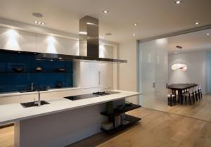 modern kitchen in a new condo